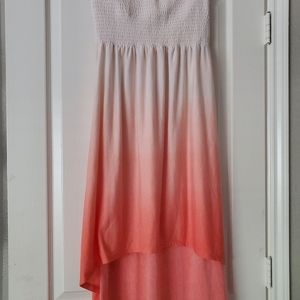 Small strapless high low dress
